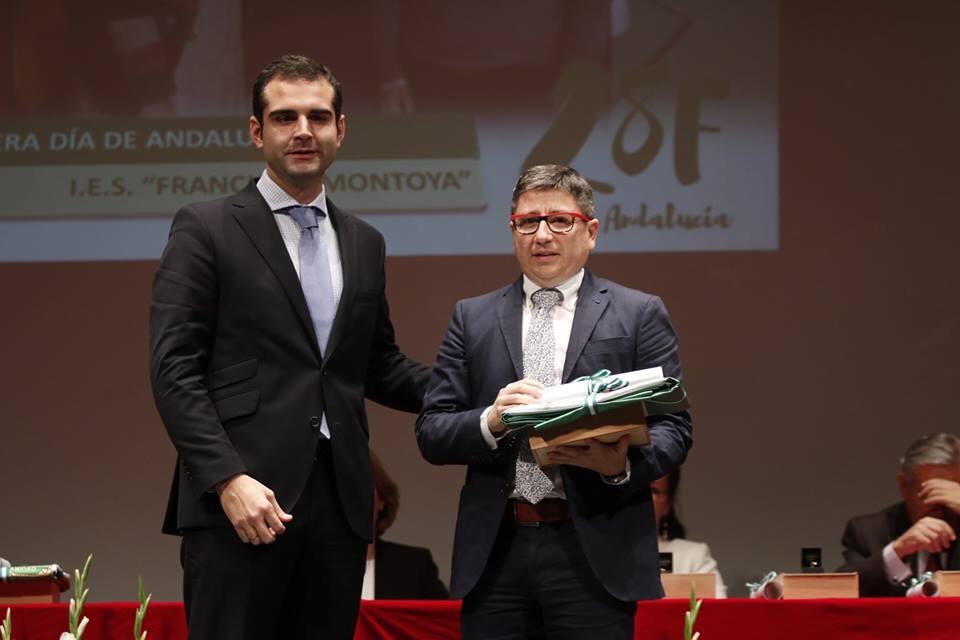 El IES Francisco Montoya recibe la Bandera de Andalucía