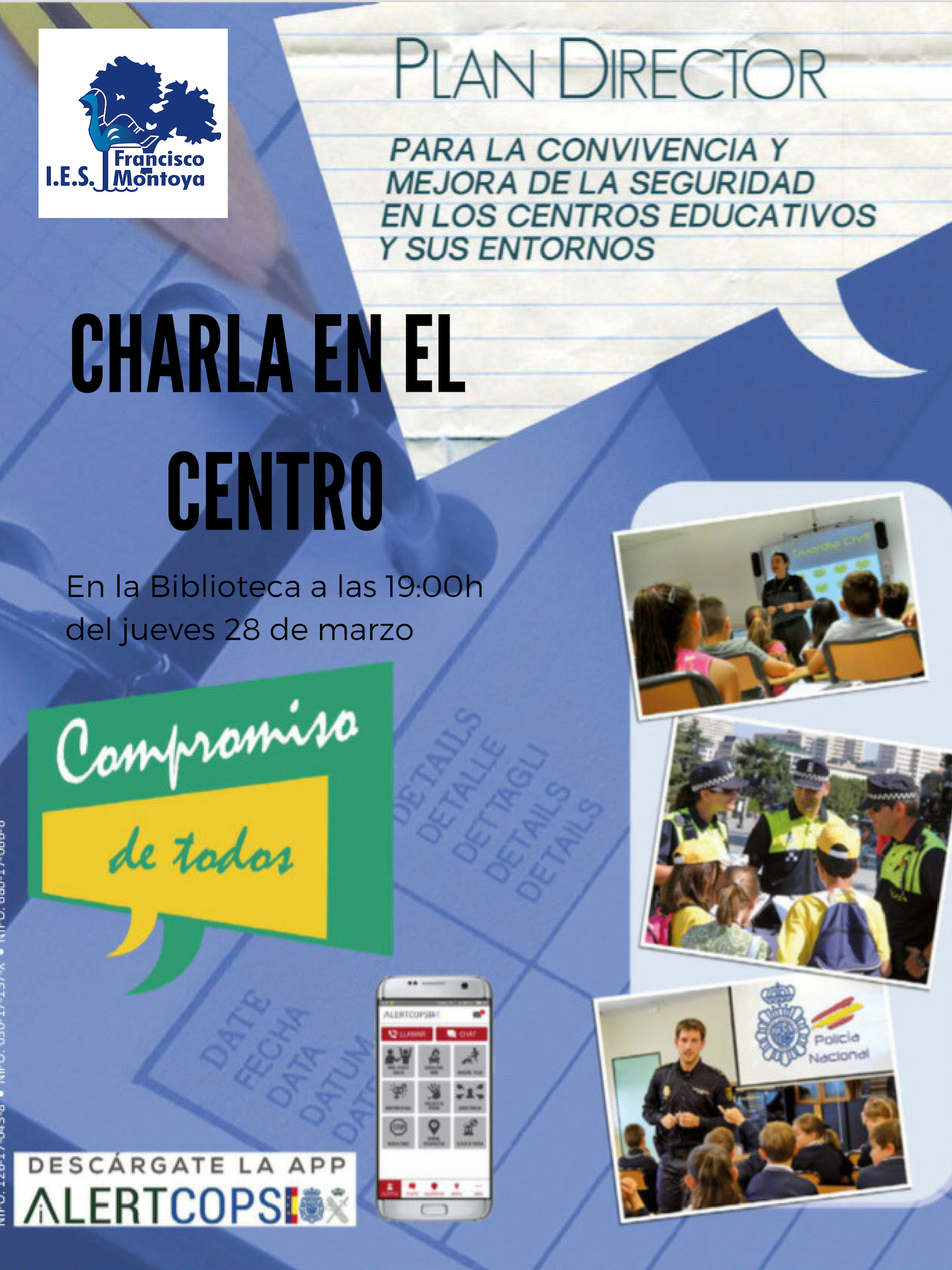 "Charla ""Plan Director para la Comunidad Educativa"""