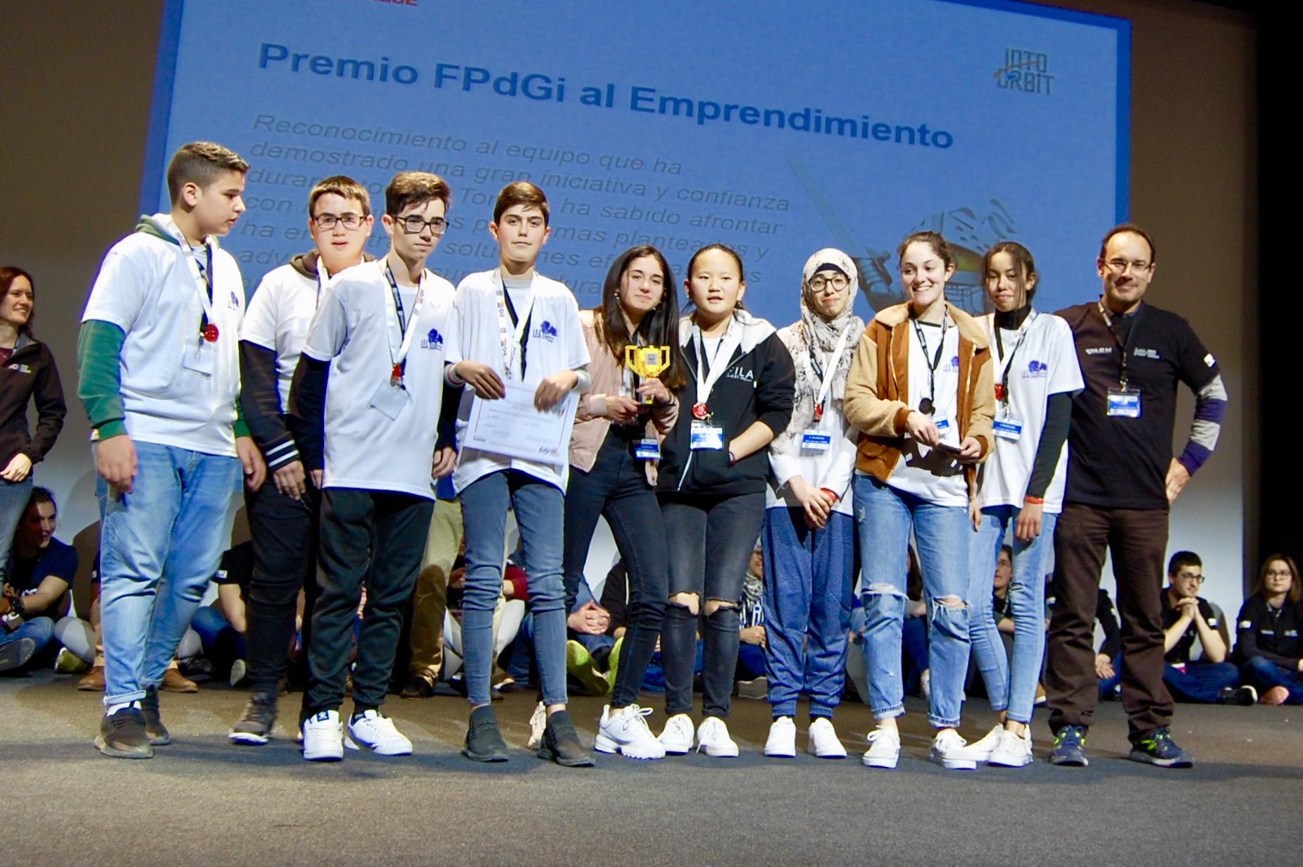 Premio Fundación Princesa de Girona a nuestro equipo ZeroGravity