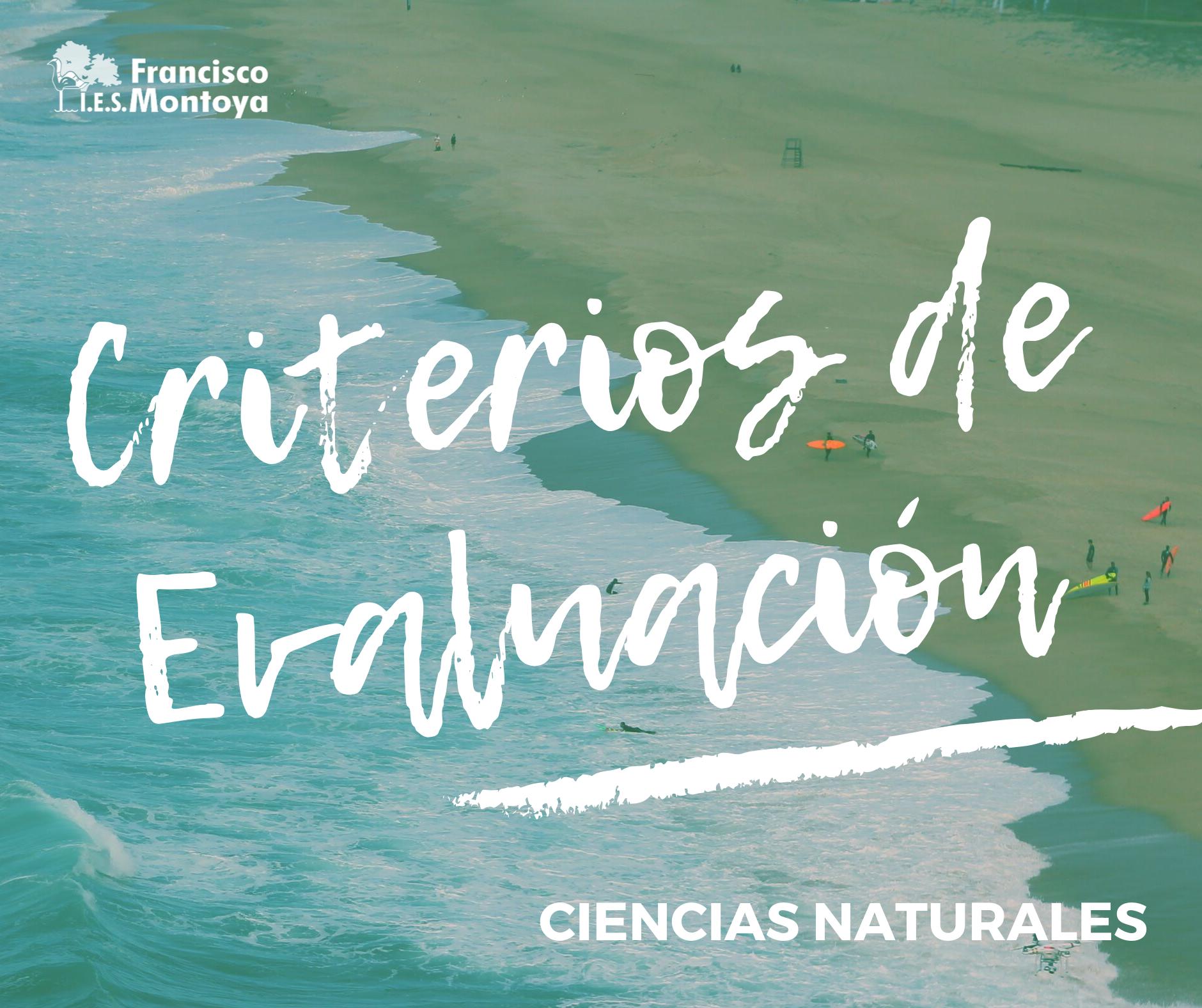 Ciencias Naturales – Criterios de Evaluación 20/21