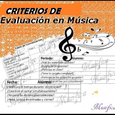 Departamento de Música, Criterios de evaluación