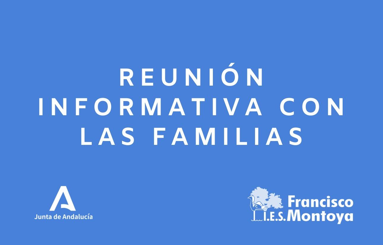 Reunión informativa con las familias de alumnado