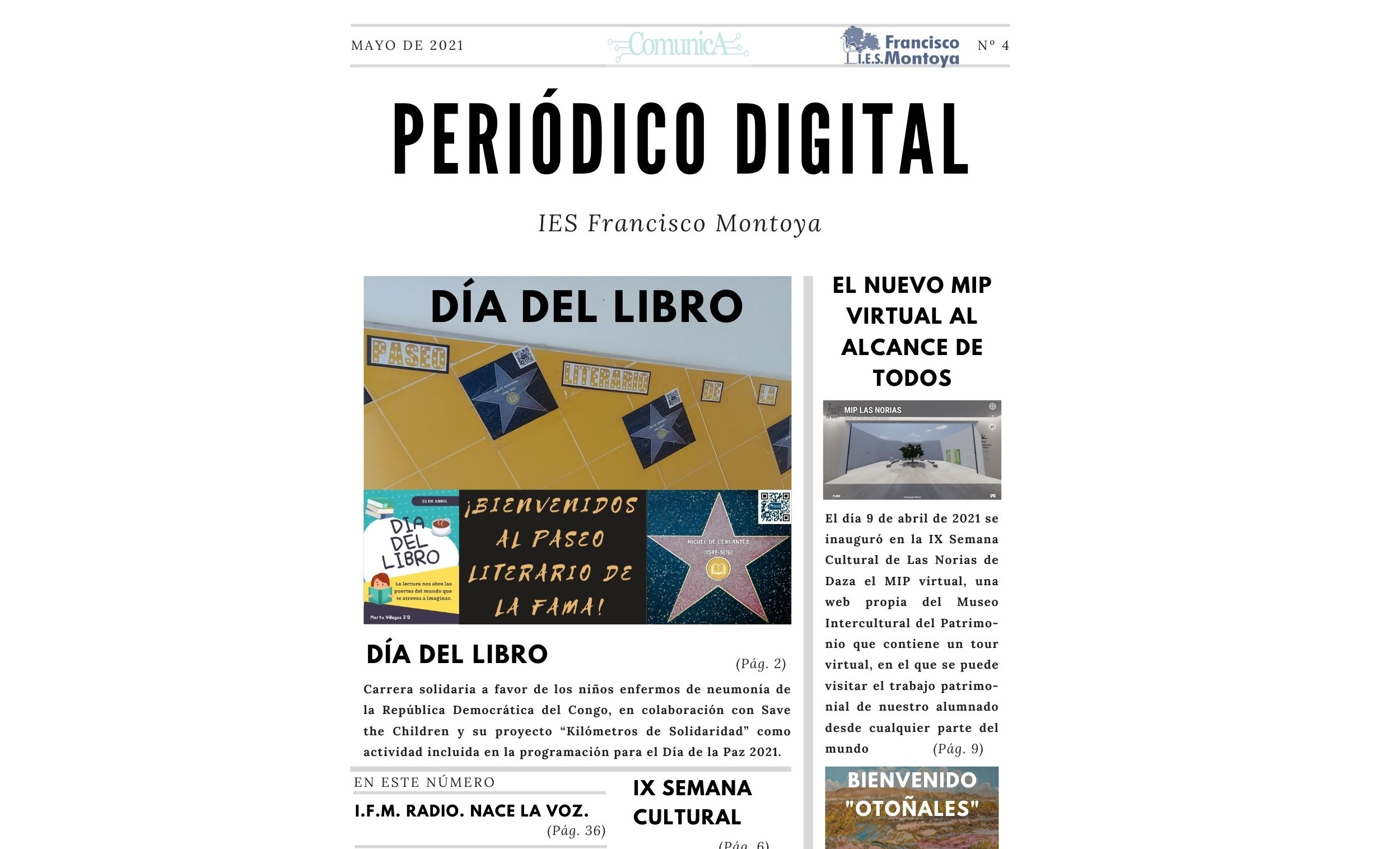 PERIÓDICO DIGITAL IES FRANCISCO MONTOYA Nº4